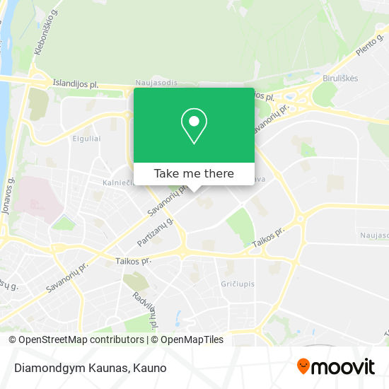 Diamondgym Kaunas map