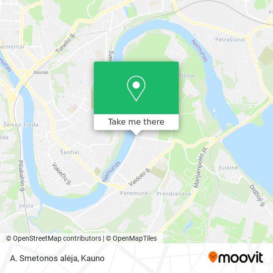 A. Smetonos alėja map