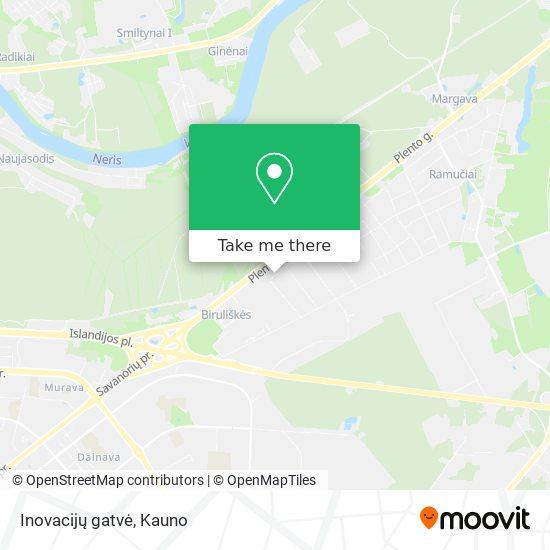 Inovacijų gatvė map