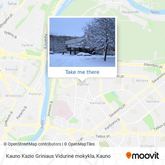 Kauno Kazio Griniaus Vidurinė mokykla map