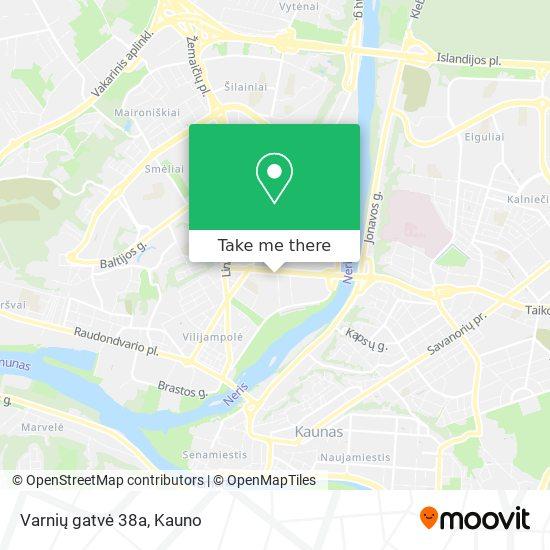 Varnių gatvė 38a map