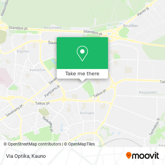 Via Optika map