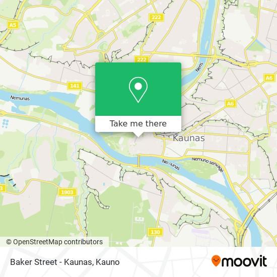 Baker Street - Kaunas map