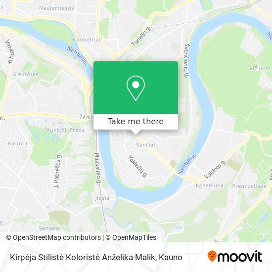 Kirpėja Stilistė Koloristė Anželika Malik map