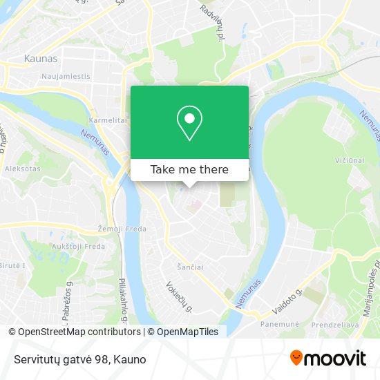 Servitutų gatvė 98 map