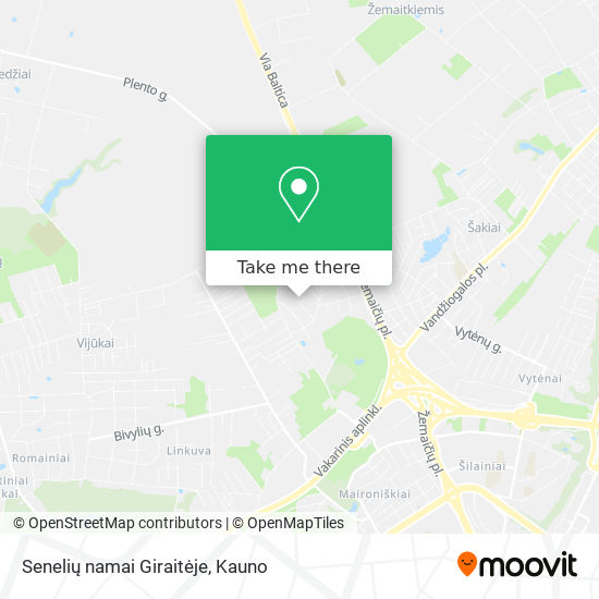 Senelių namai Giraitėje map