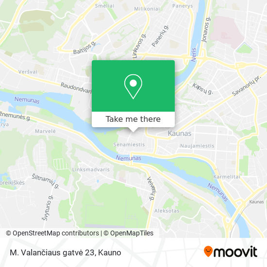 M. Valančiaus gatvė 23 map