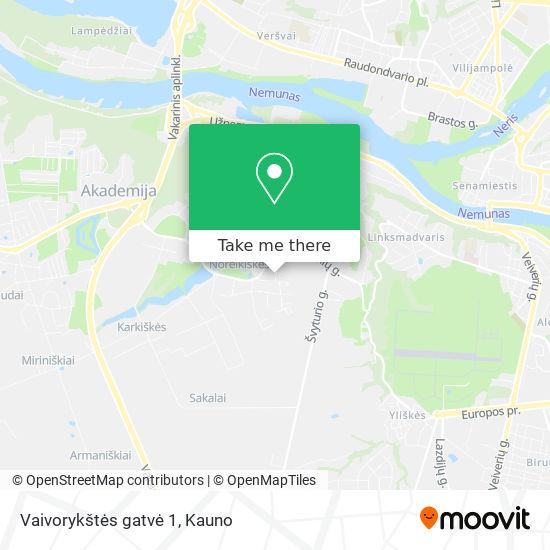 Vaivorykštės gatvė 1 map