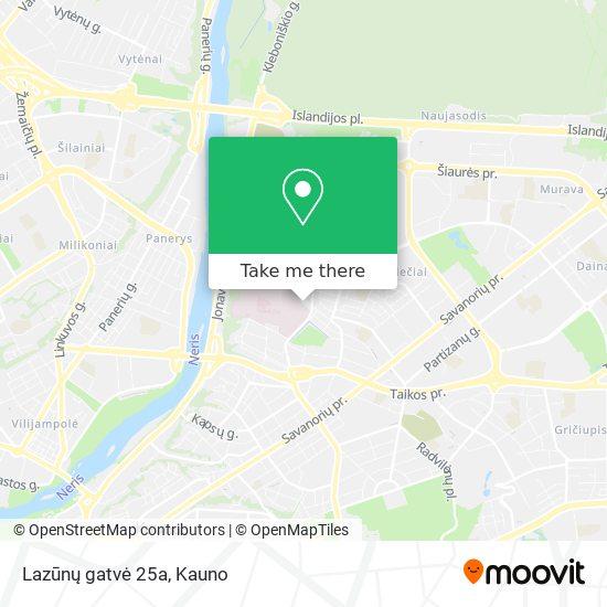 Lazūnų gatvė 25a map