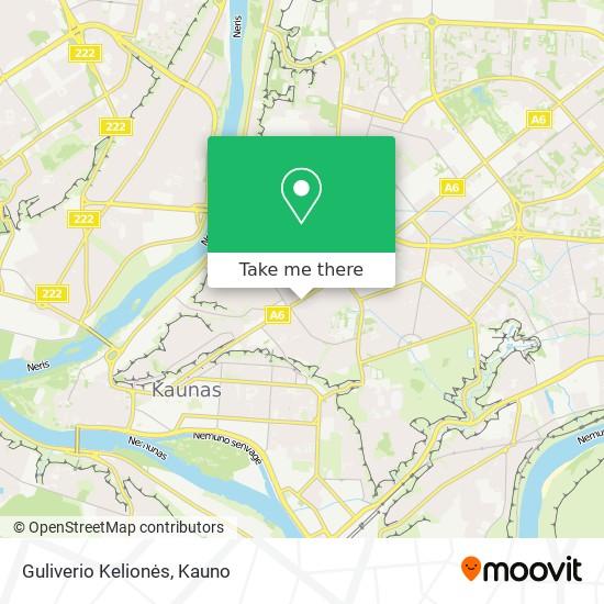 Guliverio Kelionės map