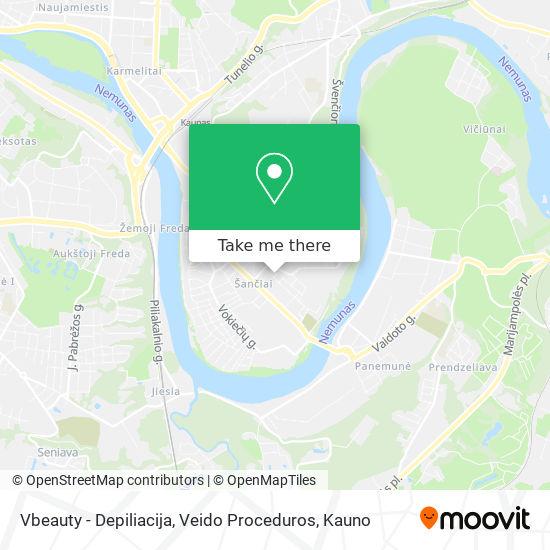 Vbeauty - Depiliacija, Veido Proceduros map
