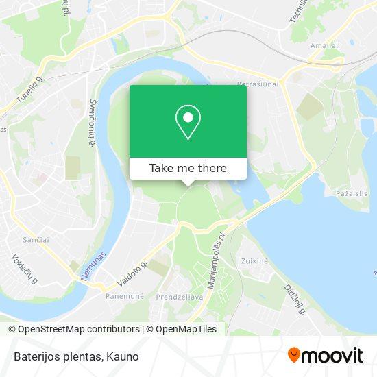 Baterijos plentas map