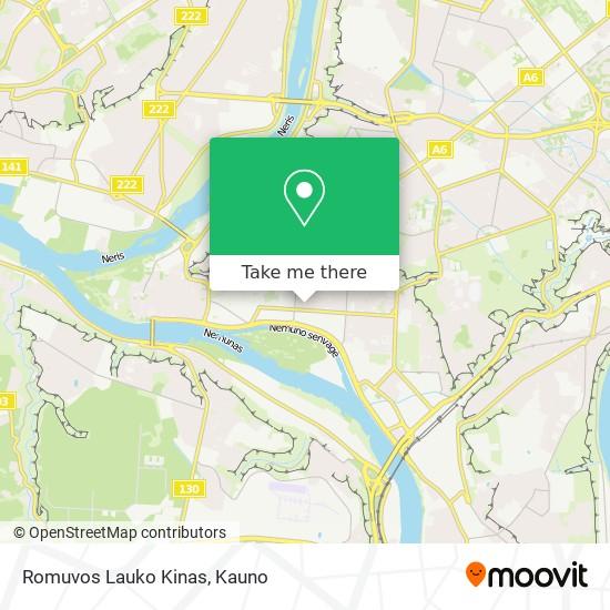 Romuvos Lauko Kinas map