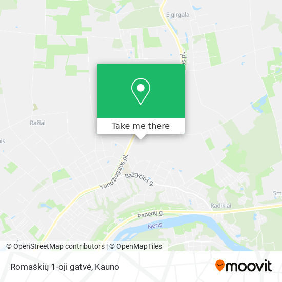 Romaškių 1-oji gatvė map