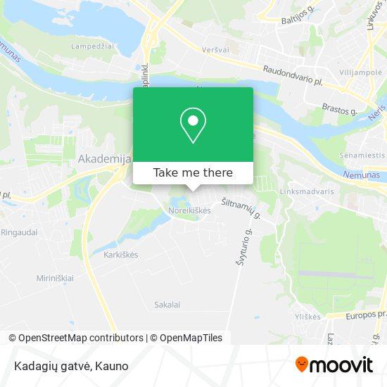 Kadagių gatvė map