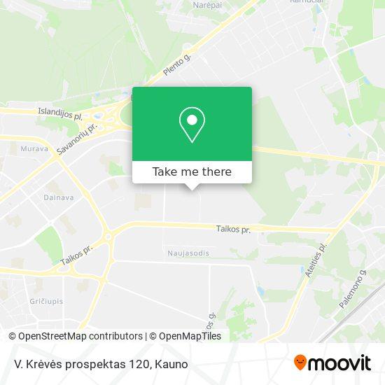 V. Krėvės prospektas 120 map