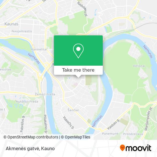 Akmenės gatvė map