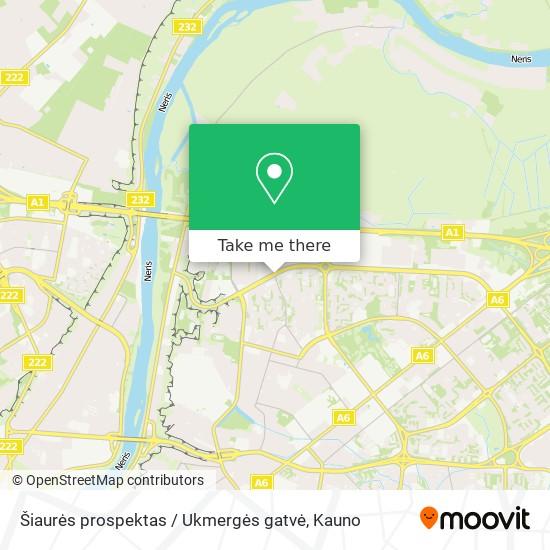 Šiaurės prospektas / Ukmergės gatvė map