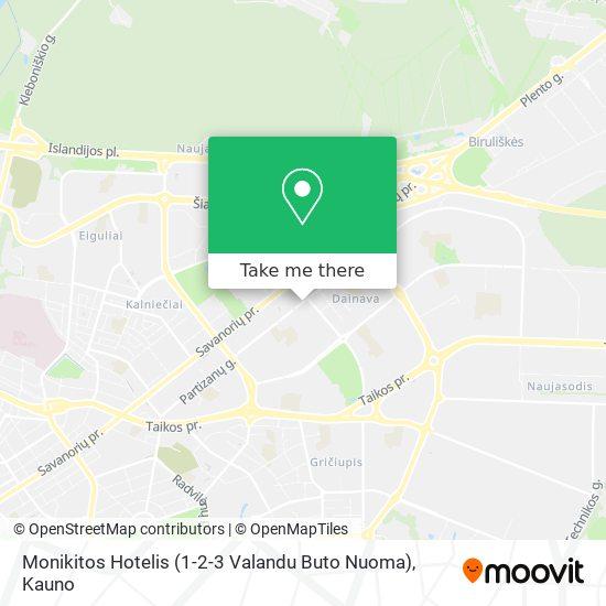 Monikitos Hotelis (1-2-3 Valandu Buto Nuoma) map