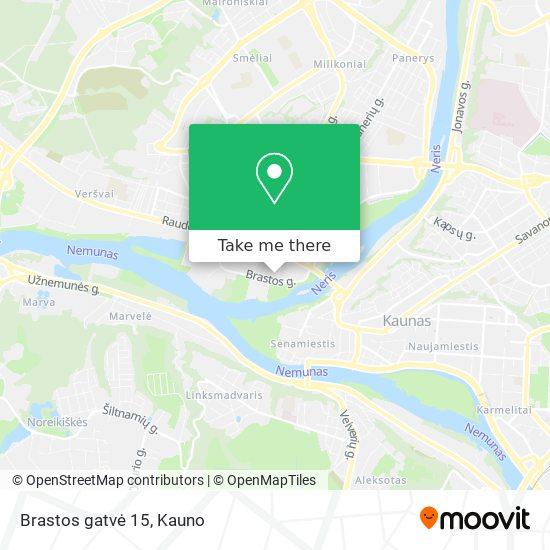 Brastos gatvė 15 map