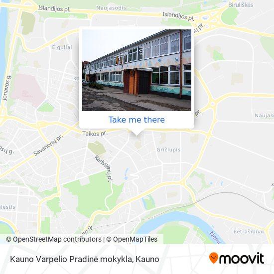 Kauno Varpelio Pradinė mokykla map
