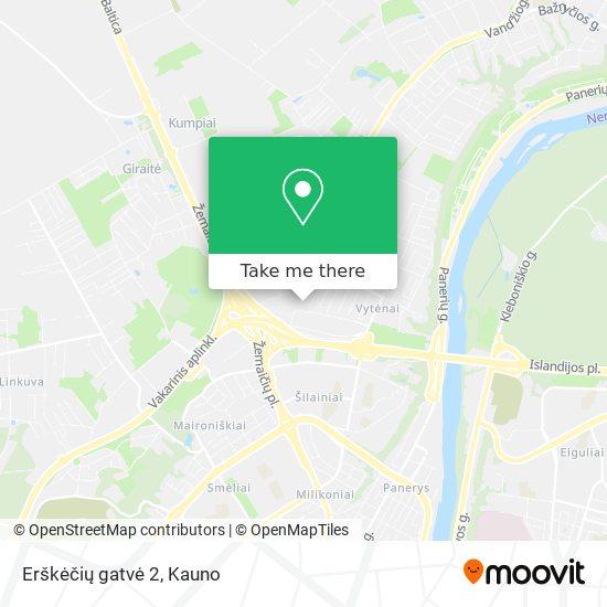 Erškėčių gatvė 2 map