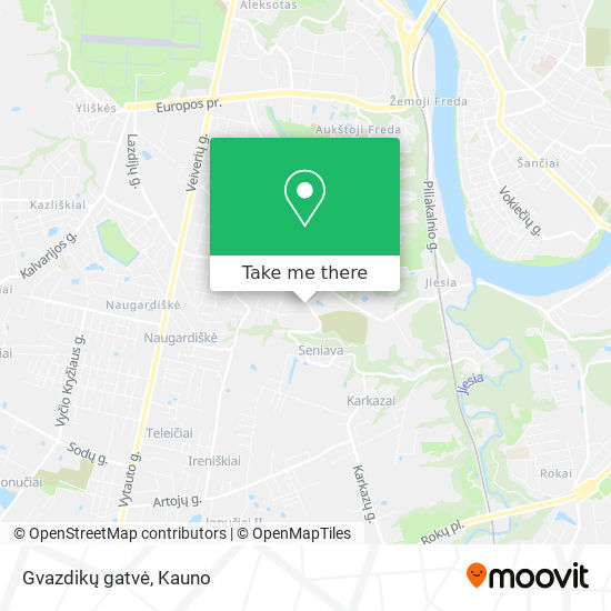 Gvazdikų gatvė map