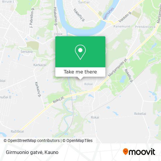 Girmuonio gatvė map