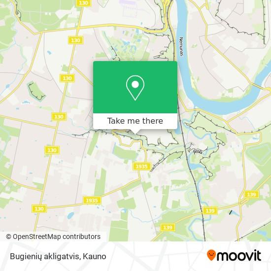 Bugienių akligatvis map