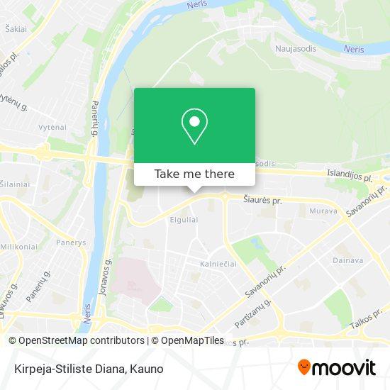 Kirpeja-Stiliste Diana map