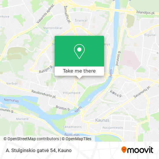 A. Stulginskio gatvė 54 map