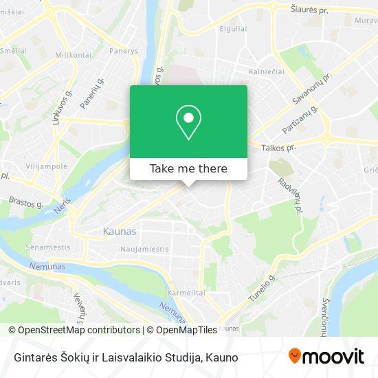 Gintarės Šokių ir Laisvalaikio Studija map