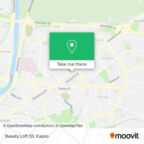 Beauty Loft S3 map