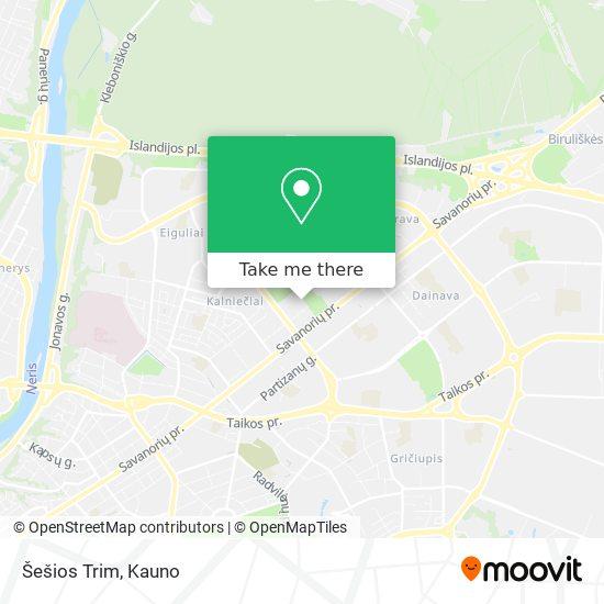 Šešios Trim map
