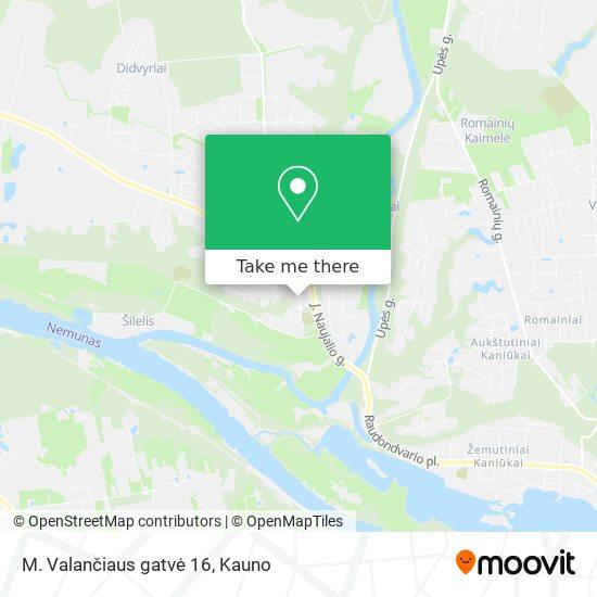 M. Valančiaus gatvė 16 map