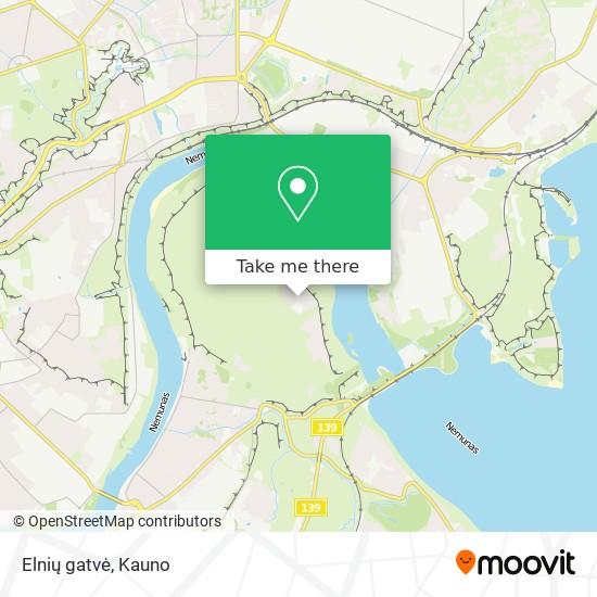 Elnių gatvė map
