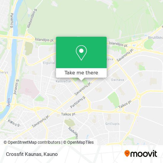 Crossfit Kaunas map
