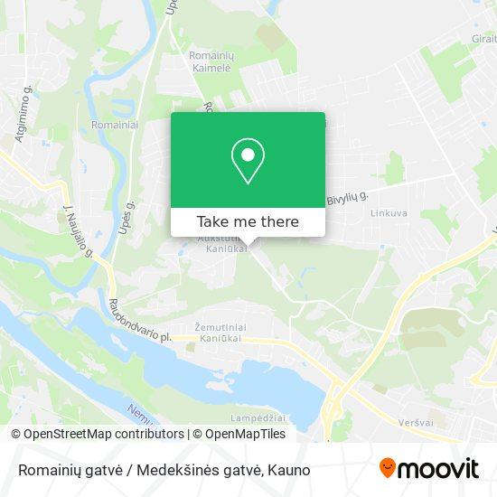 Romainių gatvė / Medekšinės gatvė map