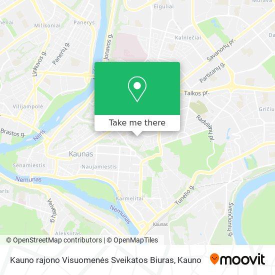 Kauno rajono Visuomenės Sveikatos Biuras map