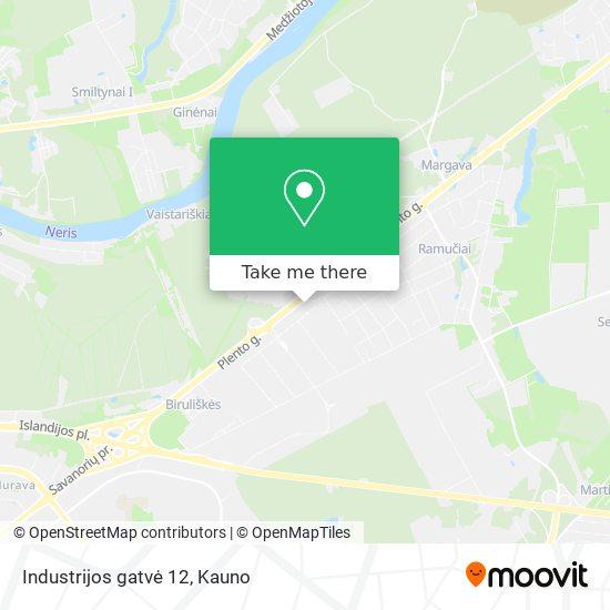 Industrijos gatvė 12 map