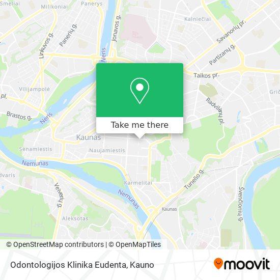 Odontologijos Klinika Eudenta map