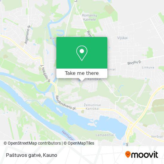Paštuvos gatvė map