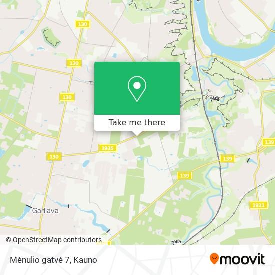 Mėnulio gatvė 7 map