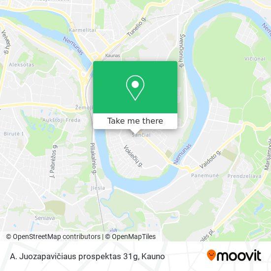 A. Juozapavičiaus prospektas 31g map