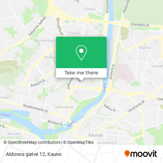 Aldonos gatvė 12 map