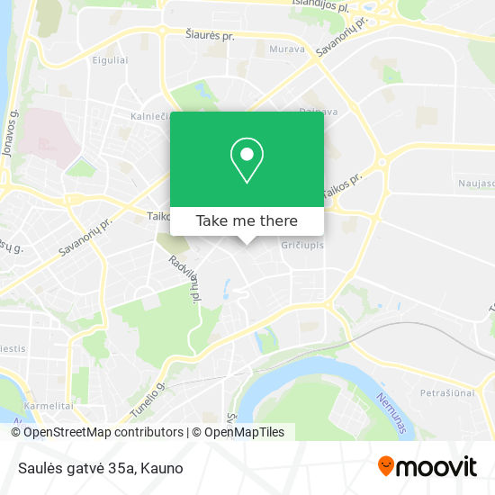 Saulės gatvė 35a map