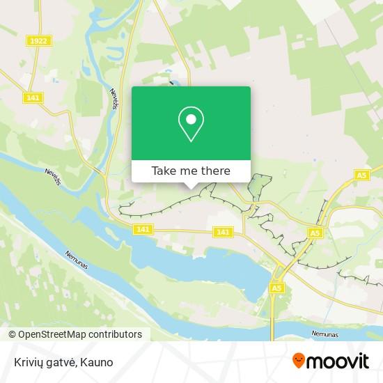 Krivių gatvė map