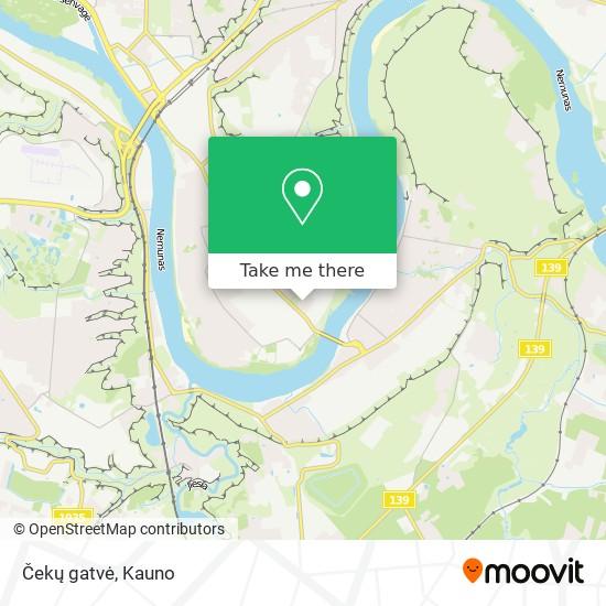 Čekų gatvė map