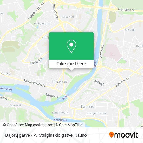 Bajorų gatvė / A. Stulginskio gatvė map