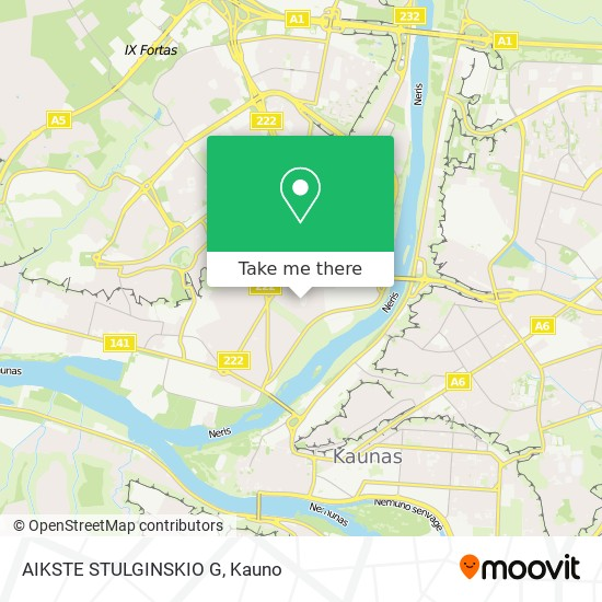 AIKSTE STULGINSKIO G map